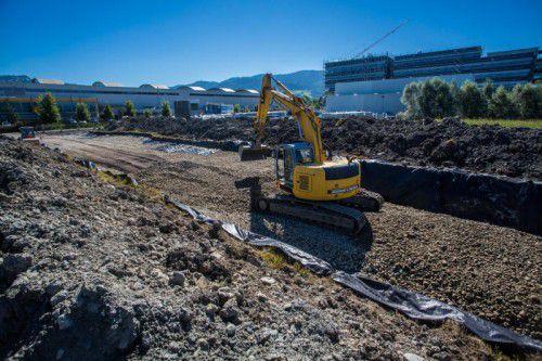 In Wolfurt wird derzeit ein neuer Zubringer ins Gewerbegebiet am Güterbahnhof geschaffen.