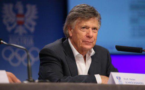 Ist froh über die erste österreichische Olympia-Medaille, aber nicht zufrieden: Peter Schröcksnadel.