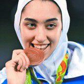 Iran ist glücklich über die erste Frauen-Medaille