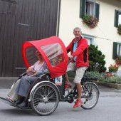 Mit Rikscha durch Feldkirch