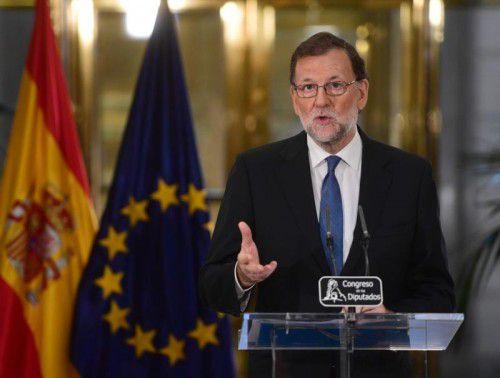 Rajoy will wieder zum Ministerpräsidenten gewählt werden.