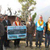 Mit anpacken in Nepal