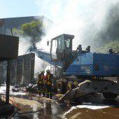 Elektroschrott in Flammen