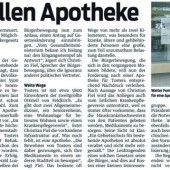 Konzession für Apotheke in Tosters beantragt