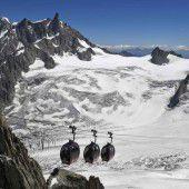 Seilbahnpanne am Mont Blanc