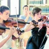 Junge Musiktalente aus Vorarlberg und den angrenzenden Ländern zu einem Orchester vereint