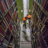 Depot der Landesbibliothek durch Starkregen überflutet