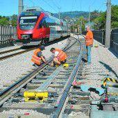 Gleisarbeiten sorgen am Wochenende für Ausfälle