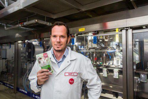 Der geschäftsführende Gesellschafter von Rupp Food, Christoph Rupp, fokussiert immer mehr auf Premium-Artikel. VN/Steurer