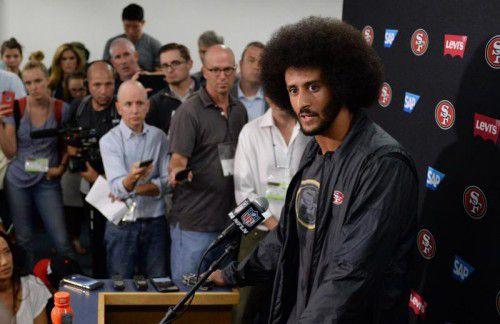 Colin Kaepernick erhitzt in der NFL die Gemüter. Foto: USA Today