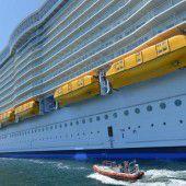 Unfall auf weltgrößtem Kreuzfahrtschiff
