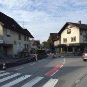 Ringstraße in Rankweil wieder frei befahrbar