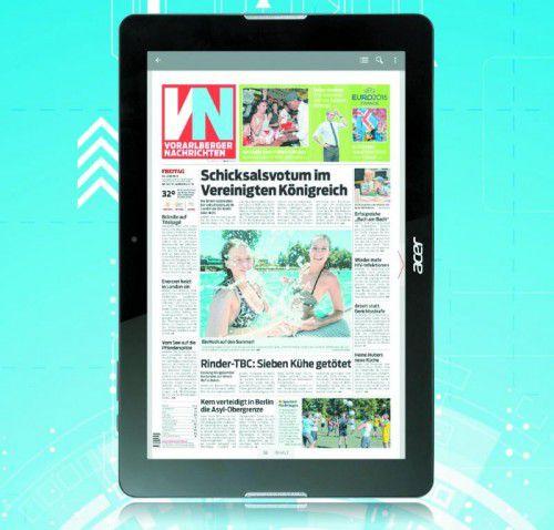 Ihre VN-Digital und ein neues Acer Iconia One Tablet um nur 13,99 Euro monatlich. Direkt mitnehmen am VN-Stand (Halle 3). Foto: Shutterstock