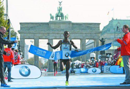 In Berlin nahe an der Bestmarke: Kenenisa Bekele. Foto: reuters