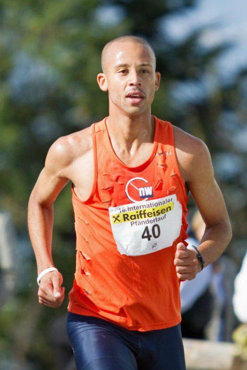 Pfänderlauf-Streckenrekordhalter Joseph Gray.Foto: Steurer