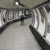 Katzenbilder in Londons U-Bahn