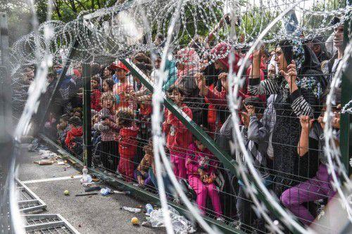 """Statt Zäune, Obergrenzen und Restriktionen wäre ein Marshall-Plan notwendig"""", kritisiert ein VN-Leser die aktuelle Flüchtlingspolitik. AFP"""