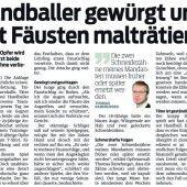 Grober Handballspieler nach Übergriff verurteilt