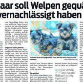 800 Euro Strafe für Feldkircher Rentnerpaar wegen Tierquälerei