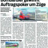 Bahnpaket zwischen dem Bund und Land Vorarlberg auf dem Prüfstand