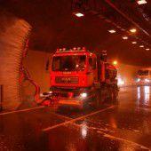 Herbstputz im Tunnel