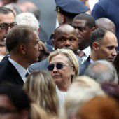 Kranke Clinton sagt Reise ab
