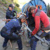 Arbeiten zur Fertigstellung der Silvretta Bahn in St. Gallenkirch laufen auf Hochdruck