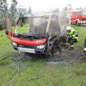 Motor plötzlich in Flammen