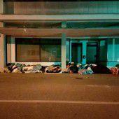 Parkplatz als Schlafstätte
