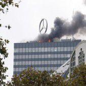 Europa-Center in Berlin brannte