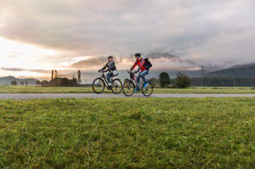Das Radeln ist in Vorarlberg zu jeder Jahreszeit ein Thema. Die gesundheitlichen Auswirkungen sind ebenfalls unbestritten.lukas hämmerle