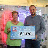 Hilfe auf Rädern: 1170 Euro für VN-Sozialaktion Ma hilft
