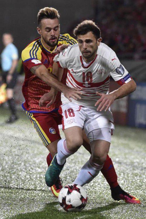 Admir Mehmedi (rechts) erzielte den zweiten Schweizer Treffer. AFP