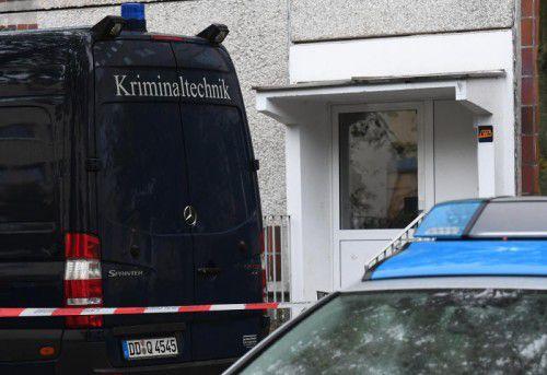 Al-Bakr wurde in diesem Wohnblock in Leipzig festgenommen.  ap