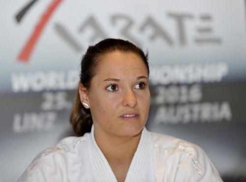 Alisa Buchinger ist Österreichs erste Medaillenhoffnung. gepa
