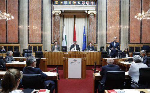 Am Donnerstag sprach Kanzler Kern im Bundesrat. Eine Reform der zweiten Parlamentskammer wird wieder diskutiert. Foto:APA