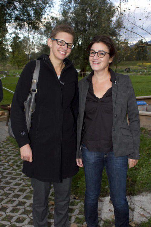 AMS- und Amazone-Damen: Silvia Stampfer (l.) und Amanda Ruf.