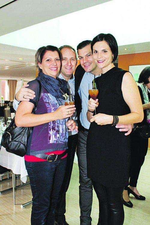 Andrea (l.) und Patrick Stadlbauer mit Thomas und Christina Kilga.