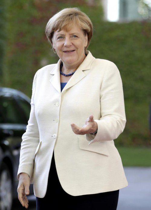 Angela Merkel betonte Europas Verantwortung für Afrika.  afp