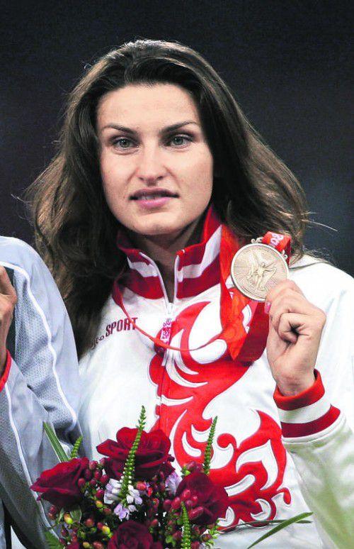 Anna Tschitscherowa verliert Bronze an Jelena Slesarenko.  Foto: ap