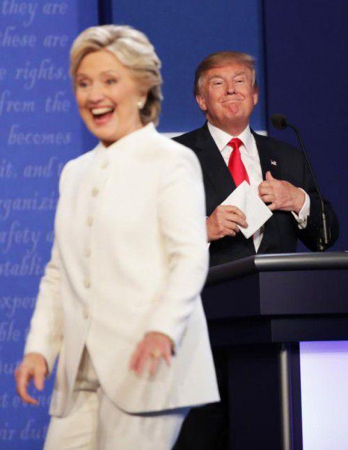 Auch beim Fernsehduell in Las Vegas hatte die frühere Außenministerin Hillary Clinton die Nase vorne. Foto: AFP