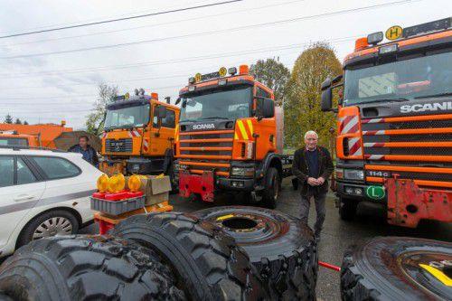 Auch einige Lastautos wurden versteigert. foto: VN/paulitsch