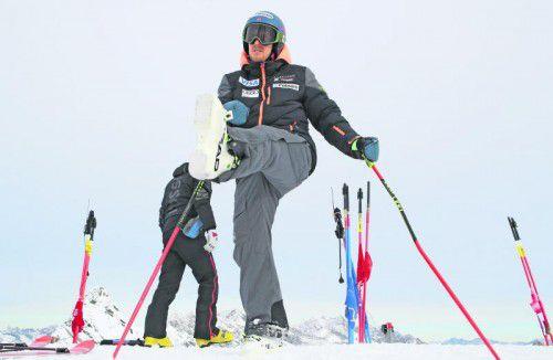 Aufwärmen für Sölden. Ted Ligety kehrt nach einem Riss des vorderen Kreuzbandes im Knie in den Weltcup zurück. Foto: gepa