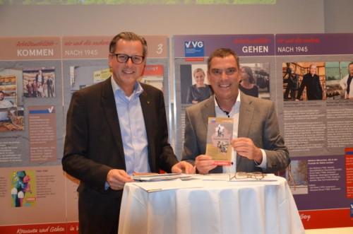 Ausstellungsmacher Johannes Ortner und Michael Haim (VVG).