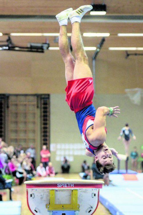 Bei der Staatsmeisterschaft 2014 in Lustenau holte Michael Fußenegger die Goldmedaille beim Sprung. Foto: gepa