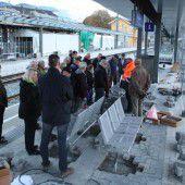 Inselbahnsteig in Rankweil steht vor Inbetriebnahme