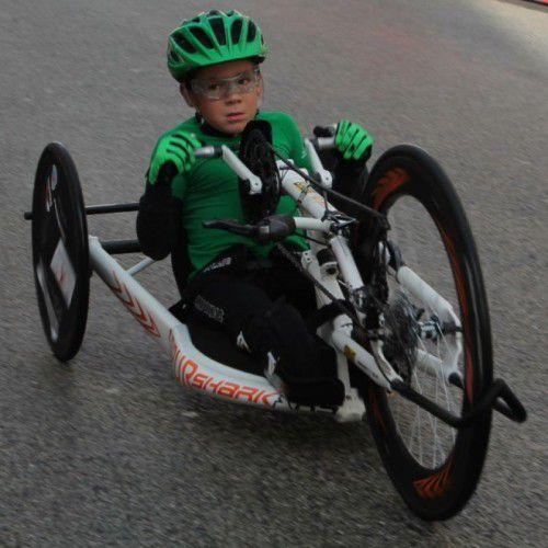 Beim Sparkasse-3-Länder-Marathon will Maximilian Taucher zeigen, was in ihm und seinem Handbike steckt.  Foto: taucher