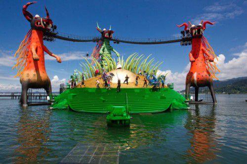 Bereits beim Bühnenbild für die Zauberflöte auf der Seebühne sicherte sich Geiger ein Baulos. Foto: VN/Steurer