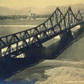 Vorarlberg Einst und Jetzt. Die Widnauer Brücke in Lustenau