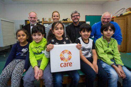 Care-Gutscheinaktion in der Volksschule Augasse in Bregenz. Steurer